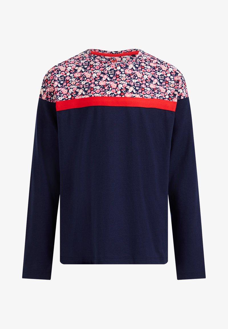 WE Fashion - MET DESSIN - Langarmshirt - blue