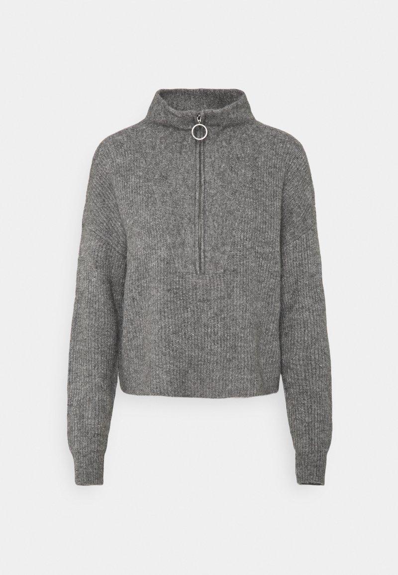 Noisy May - NMNEWALICE HIGH NECK - Jumper - mottled grey