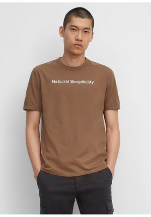IN HEAVY QUALITÄT - Print T-shirt - melted chocolate