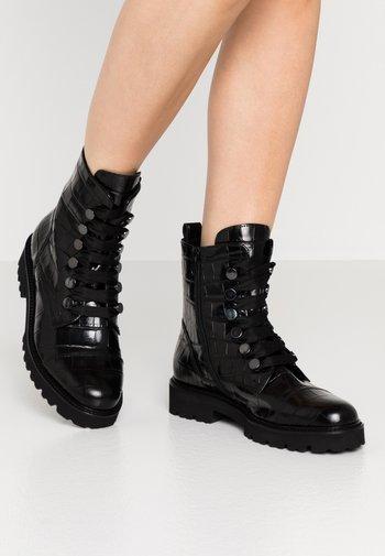 Platform ankle boots