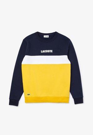 Sweatshirt - bleu marine / jaune / blanc