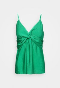 Banana Republic - STRAPPY TWIST FRONT TEXTURE TANK - Top - kailua green - 0