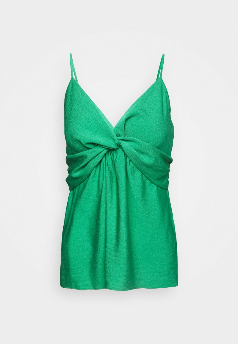Banana Republic - STRAPPY TWIST FRONT TEXTURE TANK - Top - kailua green