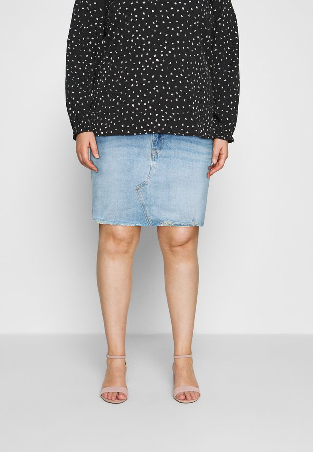 DECONSTRUCTED SKIRT - Minisukně - light blue denim