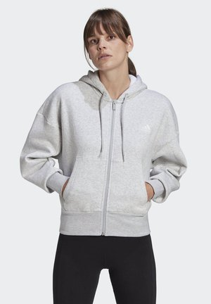 BIG BADGE OF SPORT FULL-ZIP HOODIE - Sweatjakke /Træningstrøjer - grey