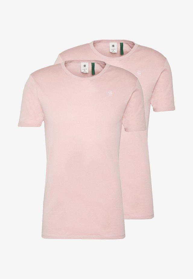 BASE 2 PACK  - T-shirts basic - light pink