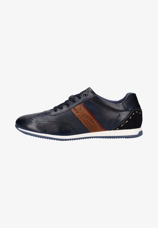 Sneakers laag - dark blue/cognac