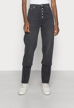 BUTTON CLOSURE STRAIGHT TALL - Straight leg jeans - grey