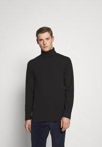 Solid - TED ROLLNECK - Long sleeved top - black - 0