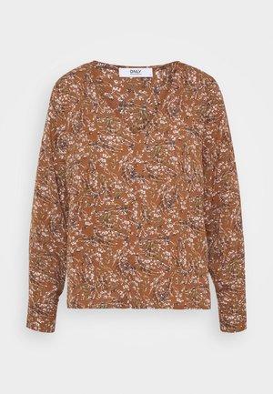 ONLLIMA V NECK - Bluse - rust