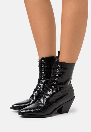 YASTRINITY BOOTS - Lace-up ankle boots - black
