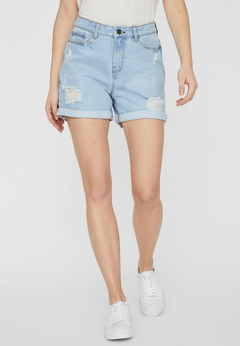 Noisy May - Denim shorts - light blue denim