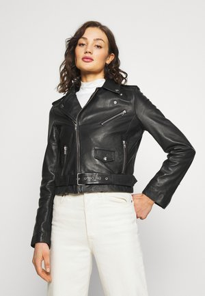 VIROCK BIKER JACKET - Leather jacket - black