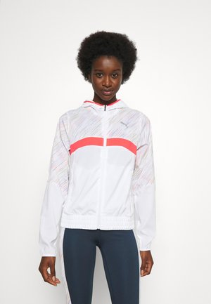 RUN GRAPHIC HOODED JACKET - Sports jacket - white
