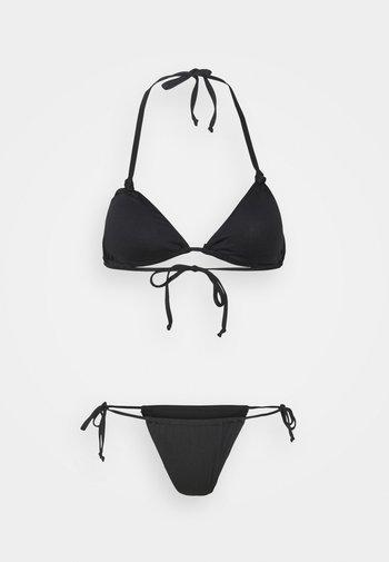 RUCHED UP - Bikini - black