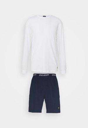 HUGO SET - Pyjama set - bright white/peacoat