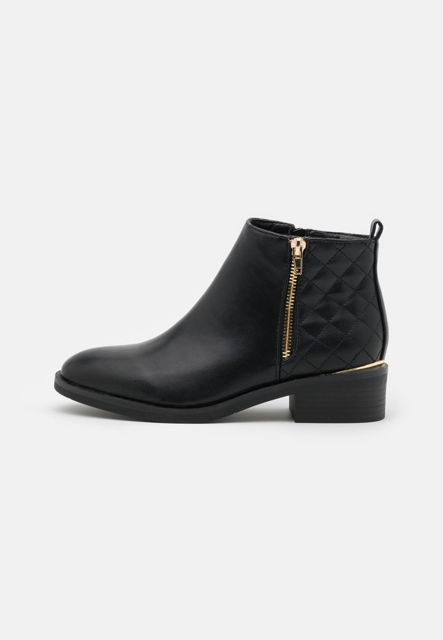 BRUCIE QUILTED ZIP - Ankle boot - black