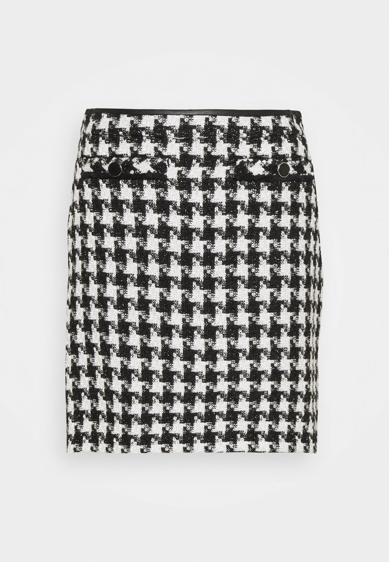 Wallis - DOGTOOTH - Mini skirt - mono