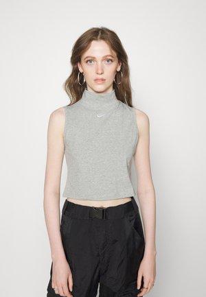 MOCK - Top - grey heather/white