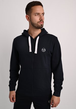 KAPUZENJACKE NEW ELBOW SWEATER - Zip-up hoodie - nav/wht