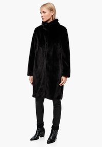 s.Oliver - TEDDY - Winter coat - black - 1