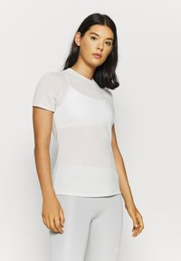 The North Face - W ACTIVE TRAIL WOOL  - Print T-shirt - tin grey heather - 0