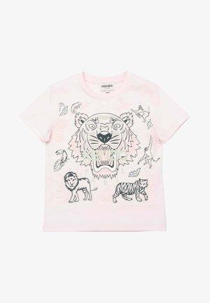 À MANCHES COURTES - T-shirt print - aubepine