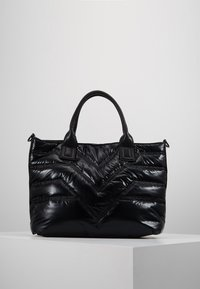 River Island - QUILTED SHOPPER - Tote bag - black - 2