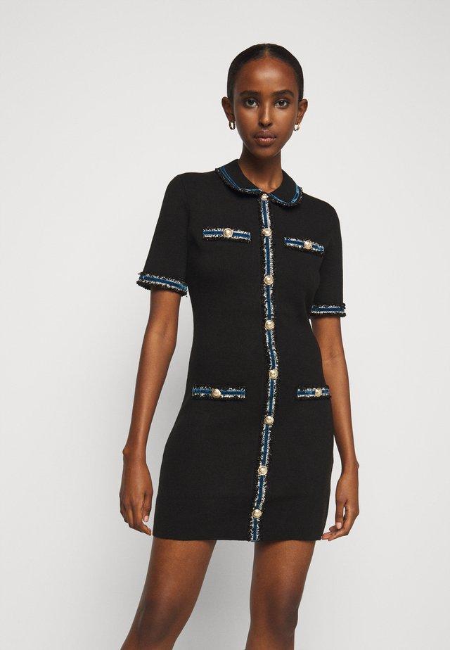 RAVENA - Stickad klänning - noir