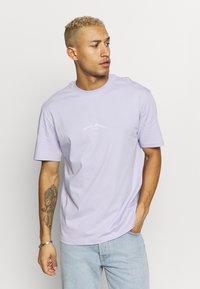 Topman - DEST BACK PRINT TEE - Print T-shirt - lilac - 2