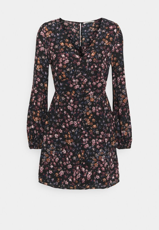 DRAMA BUTTON MINIDRESS - Robe d'été - black/multi