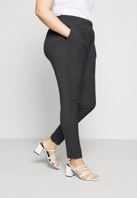 Kaffe Curve - KCJIA PANTS - Pantalon classique - dark grey ange - 3