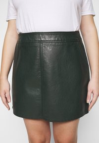 Dorothy Perkins Curve - SKIRT - Mini skirt - green - 4