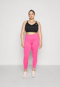 Nike Performance - ONE PLUS  - Leggings - hyper pink/white - 1