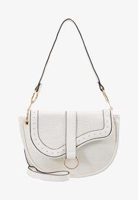 New Look - SHARNI SADDLE BAG - Handbag - white - 5