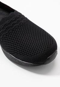 Skechers - SEAGER - Slip-ons - black - 2