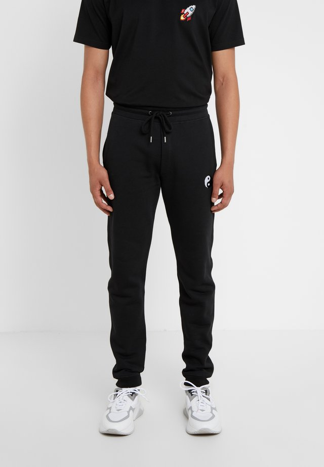 PANTS MAN SMALL YIN YANG - Jogginghose - black