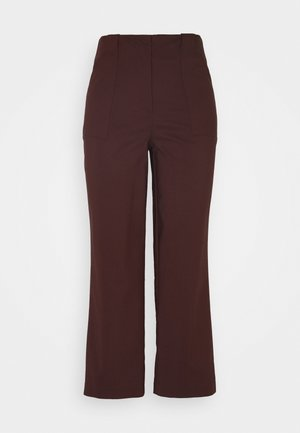 YASSWIFT CROPPED PANT - Trousers - rum raisin