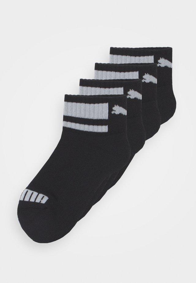 CLYDE JUNIOR QUARTER 4 PACK UNISEX - Ponožky - black