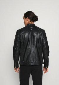 Freaky Nation - SHEEP CHARLY ACTION - Leather jacket - black - 2