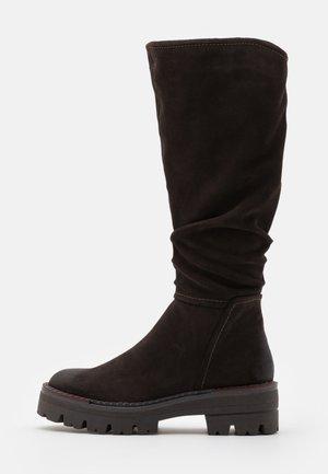 BOOTS  - Platåstøvler - mocca