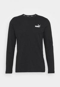 SMALL LOGO LONGSLEEVE TEE - Langærmede T-shirts - puma black