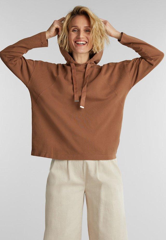Hoodie - rust brown