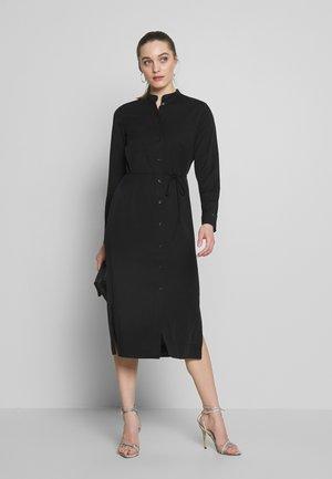 BELTED MIDI DRESS - Shirt dress - black