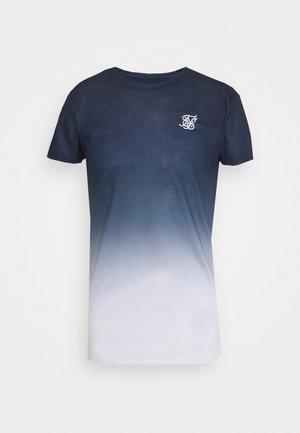 FADE TEE - Print T-shirt - navy/white