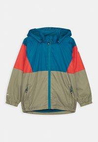 Color Kids - JACKET BLOCK UNISEX - Waterproof jacket - blue/red/khaki - 0