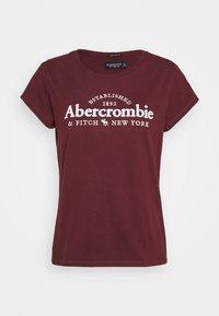 Abercrombie & Fitch - LONG LIFE LOGO  - Print T-shirt - burg - 3