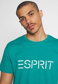 Esprit - LOGO - Print T-shirt - dark turquoise - 3