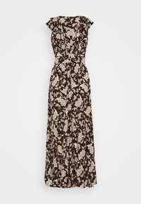 Glamorous Petite - RUFFLE MIDAMI DRESSES WITH PLUNGING NECKLINE WIDE STRAPS  - Maxi dress - dark brown - 1