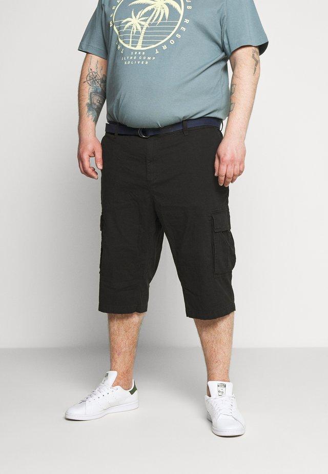 BERMUDA BELT 3/4 BIG - Shorts - black